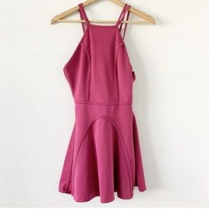 Nasty Gal Purple Sleeveless Skater Dress S